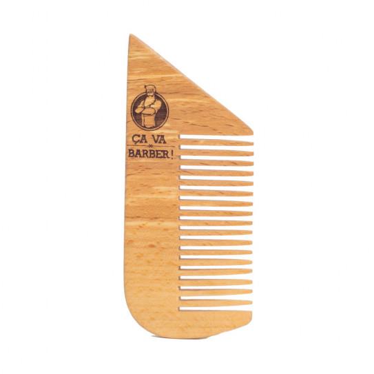 Peigne pour barbe - bois de hêtre